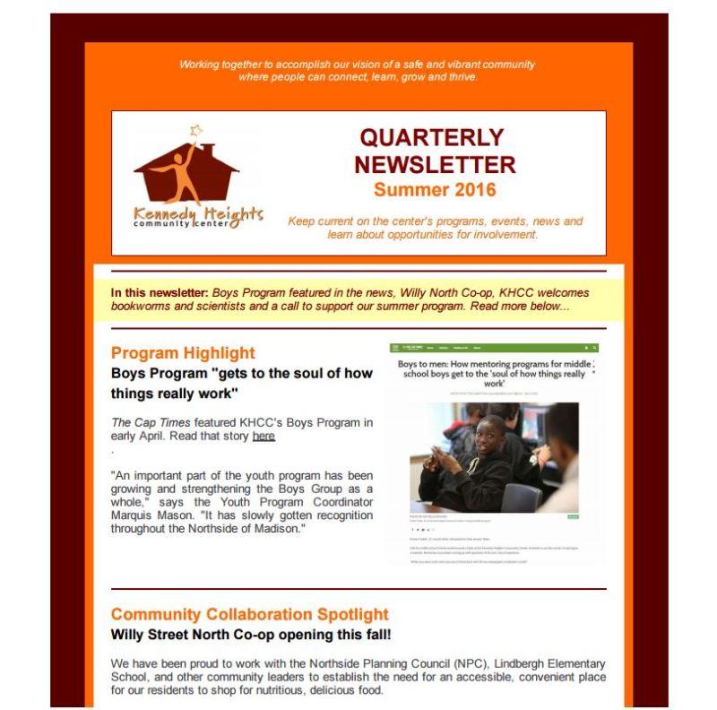 Newsletter image freelance writing madison