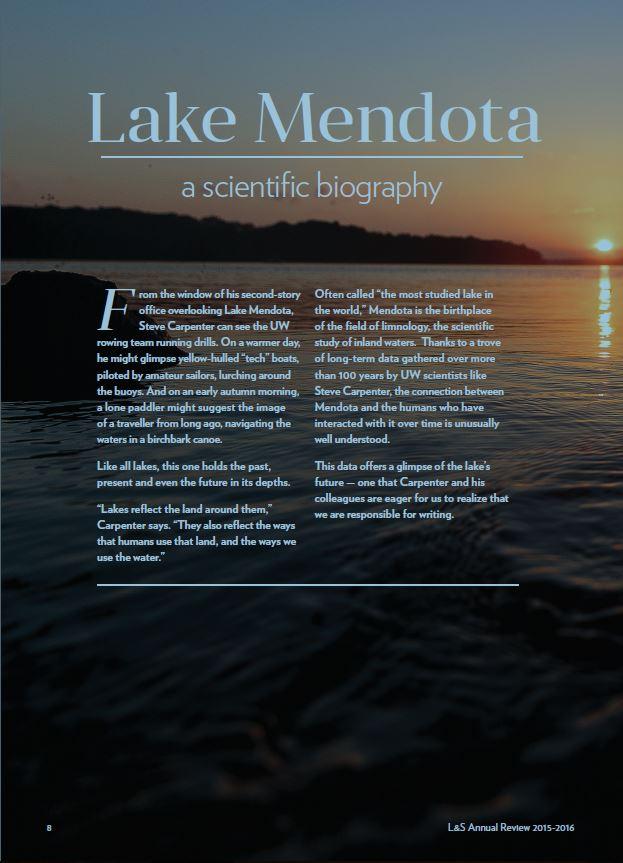 vaneyck writing lake mendota