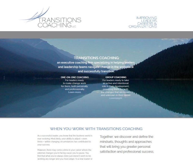 Transitions Coaching Van Eyck website copy