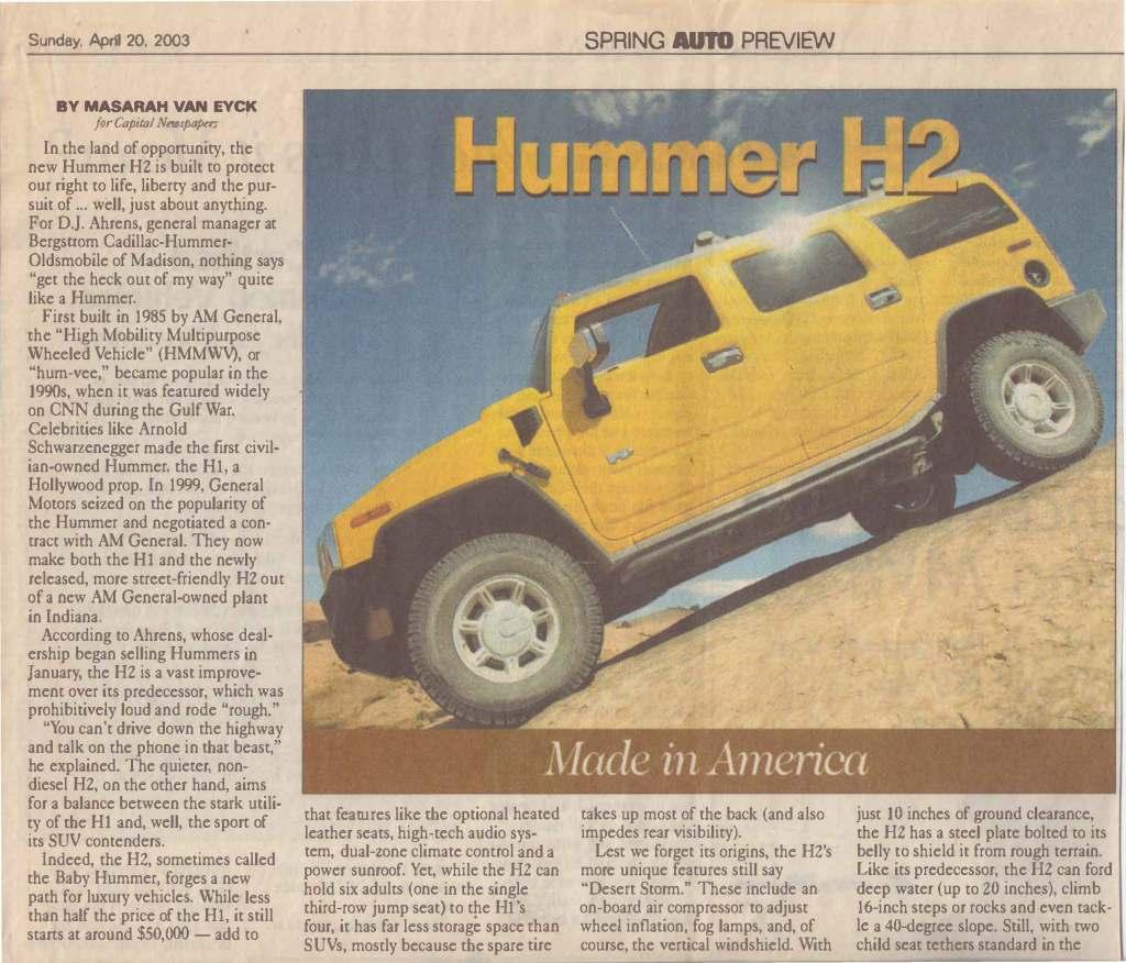 Hummer review Van Eyck