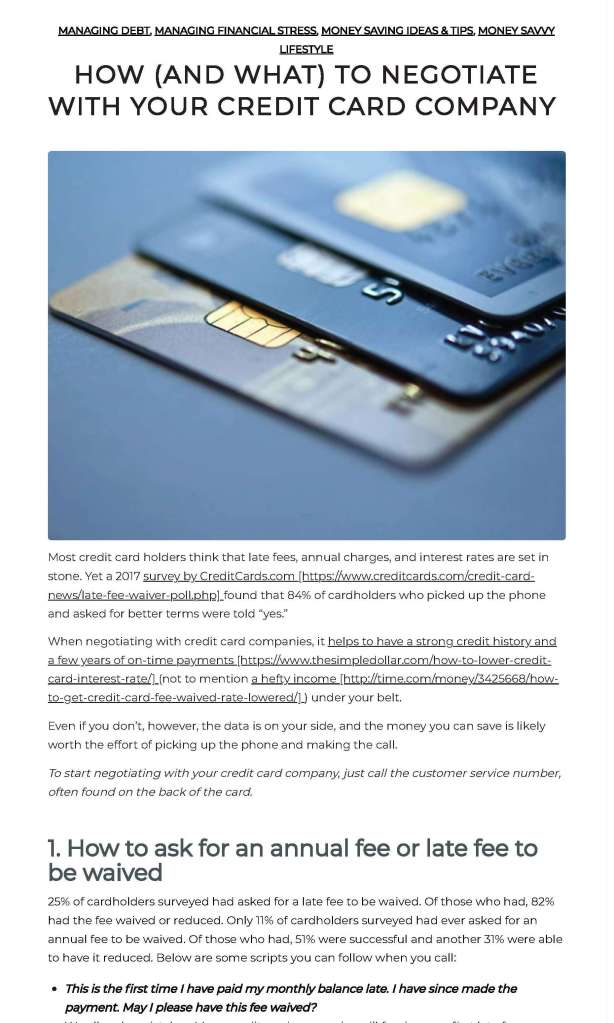 Credit card company blog 3 x 5