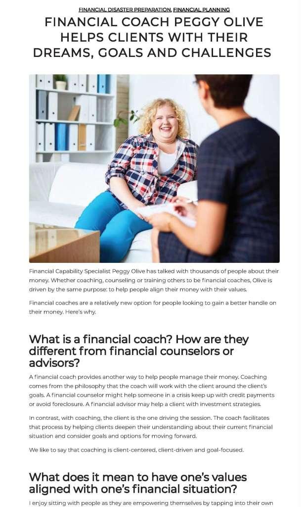 Financial coach blog 3 x 5
