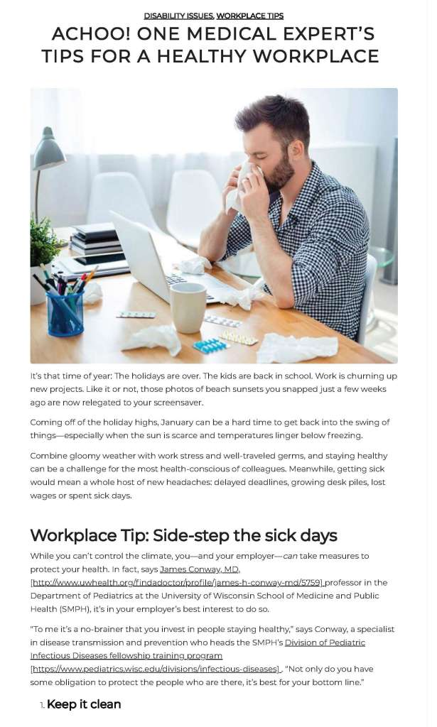 healthy workplace blog post 3 x 5