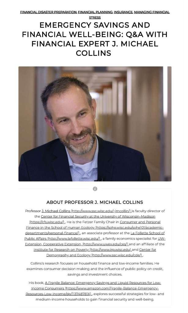 J Michael Collins post