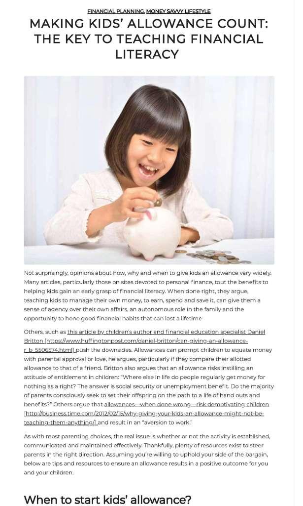 kids and allowance blog post