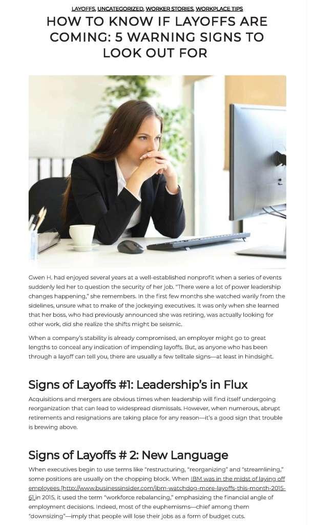 Layoffs warnings blog post 3 x 5